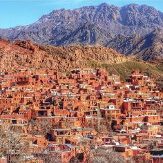 This is Abyaneh, an old village located at Karkas mountains of Isfahan province. It is famous for its peculiar reddish colour which comes from red-ochre mud.    Photo by: Icelander traveler @asasteinars  .  #AwesomeIran   #Karkas #Abyaneh #Isfahan #Red #Mud    @awesome_iran   @awesome_iran    #Regram via @awesome_iran