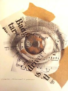 Drawing Eyes Expression Chalk charcoal and pencil study on mixed background Eye art By hannah carlile Collages, Collage Art, Mixed Media Photography, London Photography, Nikon Photography, Newborn Photography, Fashion Photography, Wedding Photography, Gcse Art Sketchbook