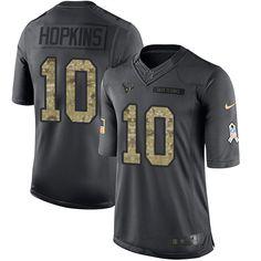 Men's Nike Houston Texans #10 DeAndre Hopkins Limited Black 2016 Salute to Service NFL Jersey