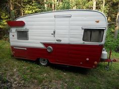 1958 Shasta Canned Ham Retro Rv, Retro Trailers, Vintage Travel Trailers, Shasta Camper, Camper Caravan, Camper Trailers, Vintage Campers For Sale, Vintage Rv, Clean Leather Seats