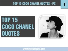 top-15-coco-chanel-quotes by PS Lifestyle via Slideshare