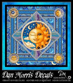 Celestial Sun Vinyl Sticker by Dan Morris - alert for beginners Great Friends, Gifts For Friends, Dan Morris, Outdoor Stickers, Inexpensive Gift, More Fun, Indoor Outdoor, Celtic, Cool Things To Buy