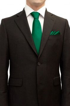 Dark Green Wedding Necktie Set | Solid Formal Tie Sets | Green ...