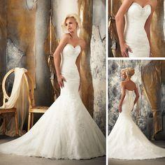 WE50 Lace Wedding Dress Sweetheart Neckline Mermaid Spanish Lace Wedding Dress 2013 $280.00