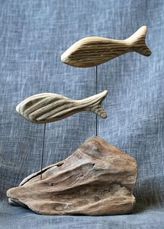 Driftwood Furniture, Driftwood Projects, Wooden Decor, Wooden Diy, Wooden Crafts, Driftwood Fish, Driftwood Sculpture, Deco Nature, Heart Diy