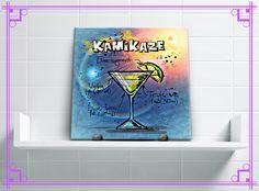 Ainnnn, diz aí se esse azulê não é tudo de bom?! Estamos simplesmente IN LOVE! Ele dá o maior charme na sua varanda gourmet, cozinha ou bar, pois além do desenho ser fofo, ainda tem a receitinha do drink! ;) Veja esse e outros azulês maraviliiiindos no nosso site! #decoração #azulejos #foto #personalizado  #frase #arte #desenho #estampa #azulê #azulês #azulejosdecorativos #azulêdecor #azulejospersonalizados #azulejopersonalizado #decoraçãopersonalizada #decoraçãocriativa #decoraçãodiferente