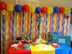 Paw Patrol-Geburtstagsfeier - Kickin 'It With Kim - Geburtstagsparty Sonic Party, Sonic Birthday Parties, Pokemon Birthday, Birthday Party Themes, Birthday Ideas, Paw Patrol Birthday Decorations, Paw Patrol Birthday Theme, Lego Party Decorations, Fête Toy Story