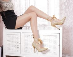 I want these! :)  #2014highheels #weddingshoes #cutoutheels