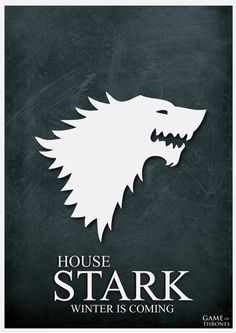 House Stark Minimalist Poster by cstm on @DeviantArt
