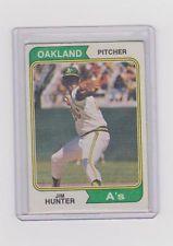 "JIM HUNTER ""CATFISH"" 1974 TOPPS #7 - Vinatge - $1.50ish"