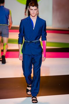 Versace Spring 2014 Menswear Collection Slideshow on Style.com