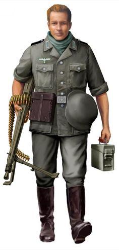 WEHRMACHT - Oberschütze, MG-Schütze 1, Gren.Rgt. 6, Demjansk 1942