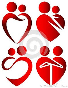 Love symbols by Selvam Raghupathy, via Dreamstime Vector Amor, Love Cartoon Couple, Outline Images, Church Banners, Hand Logo, Christmas Drawing, Islamic Art Calligraphy, Love Drawings, Love Symbols