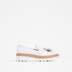 Image 1 of LEATHER PLATFORM LOAFERS from Zara