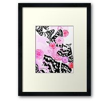 Camellia Blush Framed Print on #RedBubble by Polka Dot Studio, #new #graphic #digital #photographic #butterflies #camellias #flowers in #pink #original #art #framed for #home #wall #decor for #living room #bedroom #apartment #gift designed by Vikki Salmela