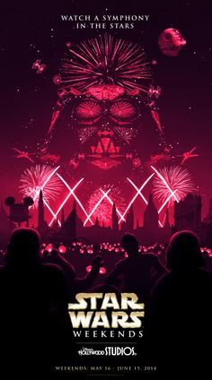 Cool art for the new Symphony in the Stars firework show at Star Wars Weekends at Walt Disney World