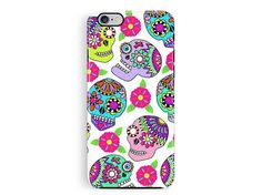 iPhone 6 Protective Case, Protective iPhone 5 Case, Day of the Dead Phone Case, Halloween phone, Bumper iPhone case, Mexican iphone 6 cover