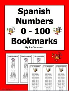 Spanish Numbers Bookmarks / Bilingual Bookmarks 0 - 100 by Sue Summers - Help… Spanish Classroom Activities, Bilingual Classroom, Classroom Ideas, Spanish Interactive Notebook, Interactive Notebooks, Spanish Numbers, Number Words, Spanish Vocabulary, Blended Learning