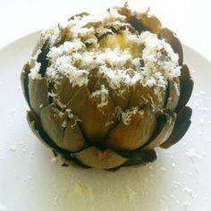 Parmesan gratineted artichoke