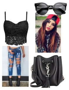 """Untitled #23"" by jessicaliinn ❤ liked on Polyvore featuring Yves Saint Laurent"