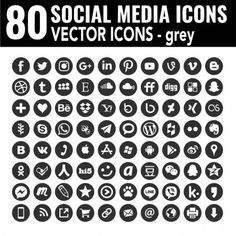 72 new Round social media icons - Vector, Black and white, transparent background - the must have complete circle icon set — Stock Vector © dadartdesign Black Social Media Icons, Social Media Art, Most Popular Social Media, Icones Cv, Networking Websites, Website Icons, Iphone Icon, People Icon, Icon Collection
