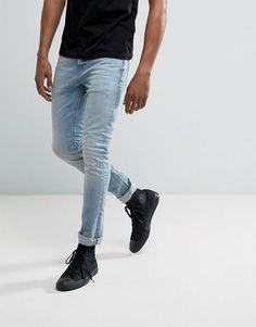 1d84016a6d4d14 ALLSAINTS INEZ CIGARETTE JEANS IN SKINNY FIT - BLUE.  allsaints  cloth    Denim
