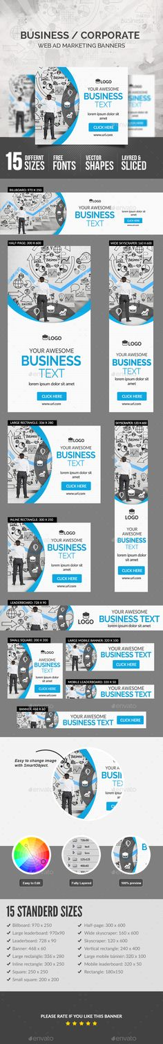 Business Banner — Photoshop PSD #domain #studio • Available here → https://graphicriver.net/item/business-banner/19000229?ref=pxcr