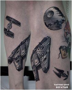 "By Eugene Rich. ""Tattoo Spot"" studio. Saint Petersburg/Star wars"