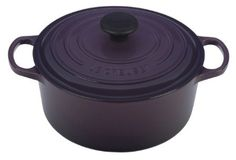 Le Creuset Signature Enameled Cast-Iron 4-1/2-Quart Round French Oven, Cassis: Amazon.com: Kitchen & Dining
