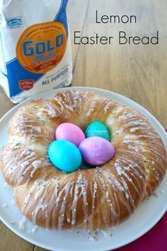 Celebrate Easter with this delicious braided lemon bread. Easy to make and it makes for an impressive centerpiece for you table. It's perfect for all your celebrations.