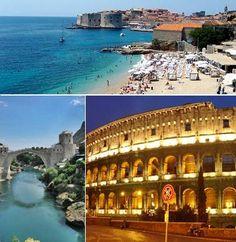 11 días - 10 noches  Circuito de 10 noches en autocar comenzando en Dubrovnik. recorriendo Croacia (Split, Opatija, Ljubjiana) e Italia (Venecia, florencia y Roma)