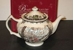 Johnson-Brothers-FRIENDLY-VILLAGE-TEAPOT-New-Boxed