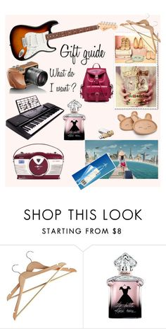 """""""Gift guide"""" by lainia on Polyvore featuring Guerlain, giftguide, Christmas, music, gifts et holidaystyle"""