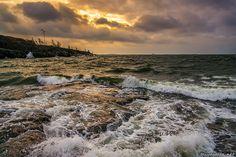 Helsinki: A windy morning view from Eteläinen Uunisaari, an island near the district of Kaivopuisto.