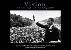 This African-American Motivational Poster is entitled Vision and features Rev. Dr. Martin Luther King, Jr. at the Freedom March in Washington, D.C. in 1963. It's a member of our African-American Motivational Poster Collection!