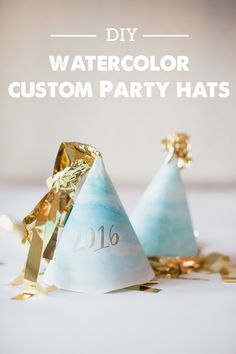 These DIY watercolor Party Hats are perfect for your preschooler's PAW Patrol Skye-themed birthday party. They look just like the beautiful sky and clouds. Nye Party, Party Time, Elmo Party, Mickey Party, Dinosaur Party, Party Fun, Diy Party Hats, Craft Party, Diy Party Decorations
