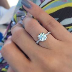 Stunning solitaire engagement ring #engagementring