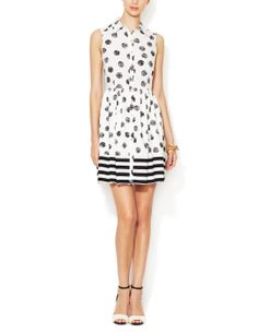 Printed Flare Sleeveless Shirtdress by Alex + Alex at Gilt