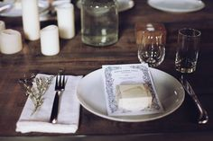 Kinfolk Dinner, includes recipes and more photos of the rustic candelit table setup.