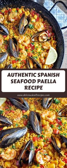 One of the most well known, and well loved, traditional Spanish recipes is Spanish omelet. Best Paella Recipe, Shrimp Paella Recipe, Seafood Recipes, Cooking Recipes, Healthy Recipes, Tapas Recipes, Healthy Food, Spanish Seafood Paella, Easy Spanish Paella Recipe