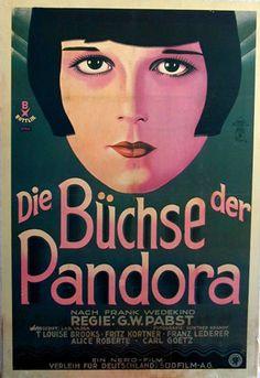 """Die Büchse der Pandora"" film poster  - 1929, directed by Georg Wilhelm Pabst, starring Louise Brooks, Fritz Kortner, Francis Lederer - watched June 9, 2012"