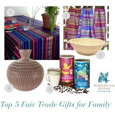 Top 5 Fair Trade Gifts for Family by HandCrafting Justice #fairtrade