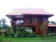 Architecture Traditional House in Thailand Thai House, Asian House, Wood House Design, Small House Design, Modern House Design, Rest House, House In The Woods, Style At Home, Modern Wooden House