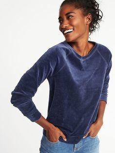 Relaxed Vintage Fleece Sweatshirt for Women