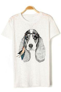 dog graphic tee | oasap