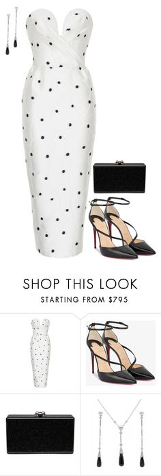 """""""Untitled #4159"""" by injie-anis ❤ liked on Polyvore featuring Rasario, Christian Louboutin, Edie Parker and Cartier"""