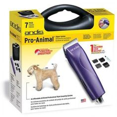 Andis Heavy-Duty 7pc Dog Grooming Kit, Quiet Ceramic Blade Pet Hair Coat Clipper #Andis