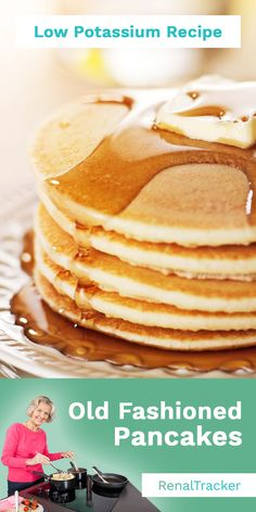 We give you an easy pancake recipe you can add to your renal diet. Start delaying dialysis by knowing what kidney foods to eat and controlling your nutrient intake. Here's the SPPP breakdown to help y Food For Kidney Health, Kidney Foods, Davita Recipes, Kidney Recipes, Low Potassium Recipes, Low Sodium Recipes, Easy Homemade Pancakes, Pancakes Easy, Low Sodium Pancake Recipe