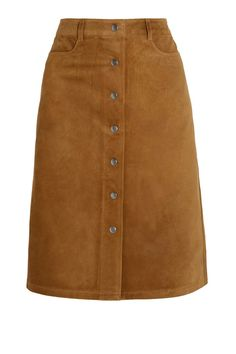Edits: Summer leather - New Sites 2015 Fashion Trends, Fashion Tips, Prada, Style Magazin, Button Front Skirt, Suede Skirt, Leather Skirt, Mode Style, Skirt Outfits