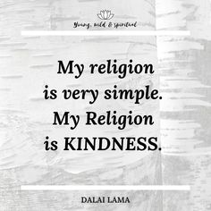 Ein wunderschönes Zitat von Seiner Heiligkeit, dem Dalai Lama. Religion, Spirituality, Cards Against Humanity, Inspiration Quotes, Nice Asses, Spiritual
